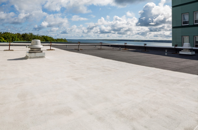 large commercial flat roof