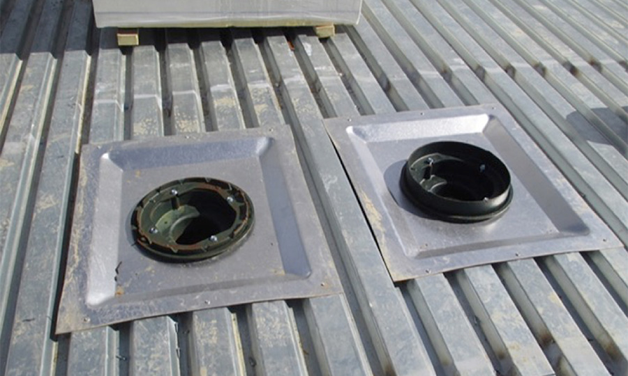 sump pan drain for Commercial low slope Roofs
