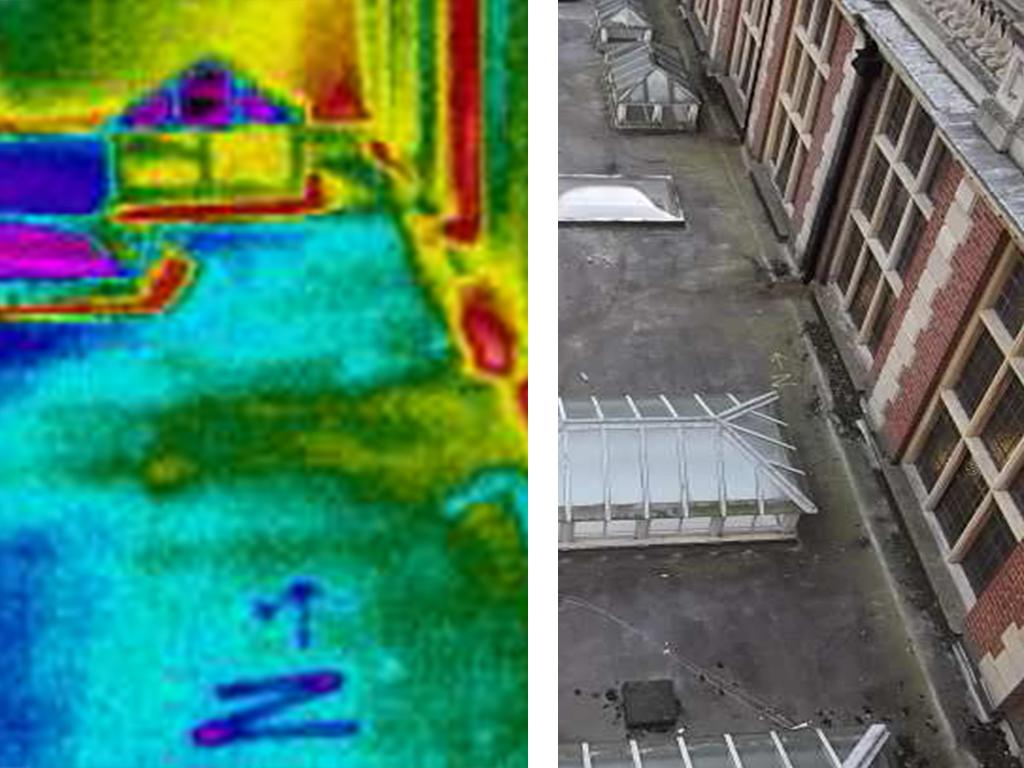 Elevated Vantage Point Method of conducting a infrared roof moisture scan