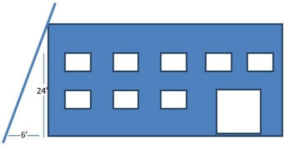 extension ladder length calculation
