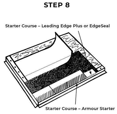 Armourshake starter shingle diagram