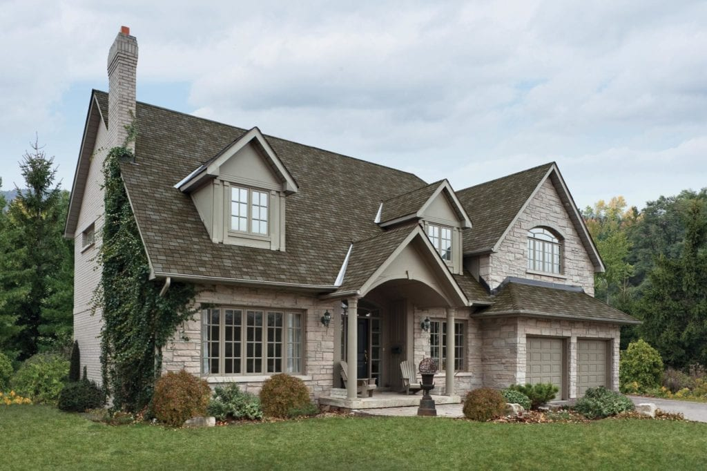 house with an IKO Royal Estate Taupe Slate roof
