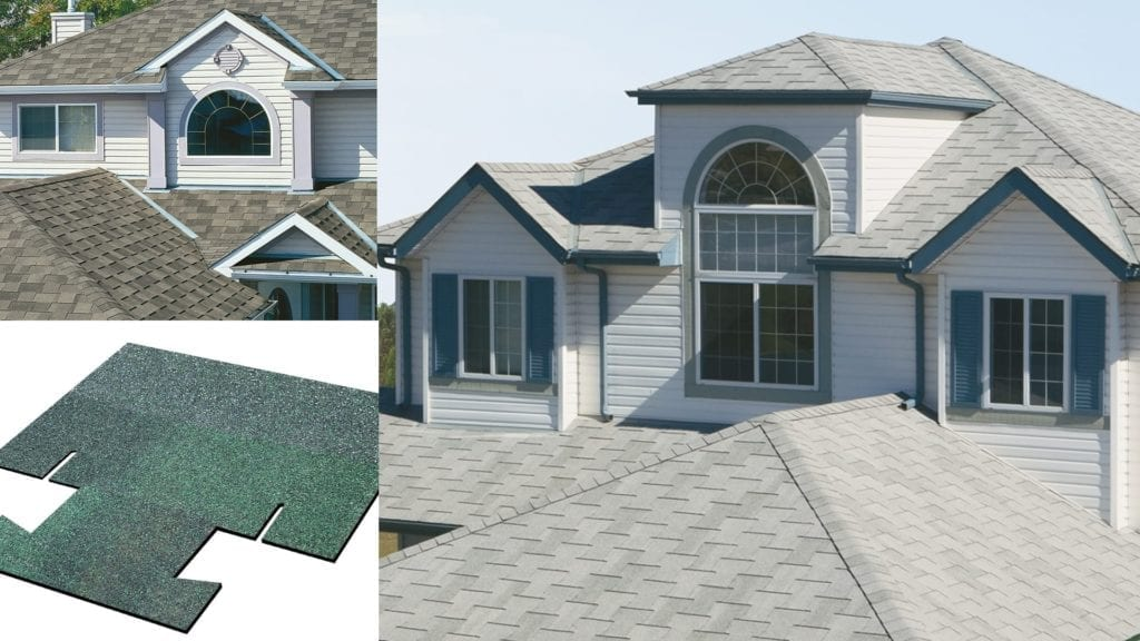 montage of a homes and an interlocking shingle