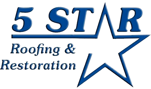5 Star Roofing & Restoration Comany Name and Logo
