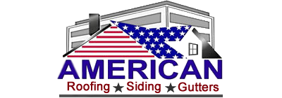 American Roofing Siding Gutters Business Name and Logo