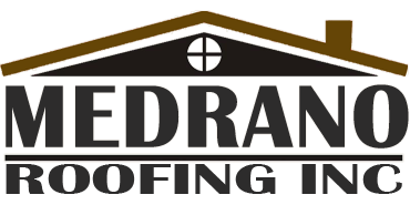 Medrano Roofing Inc. Business Name and Logo