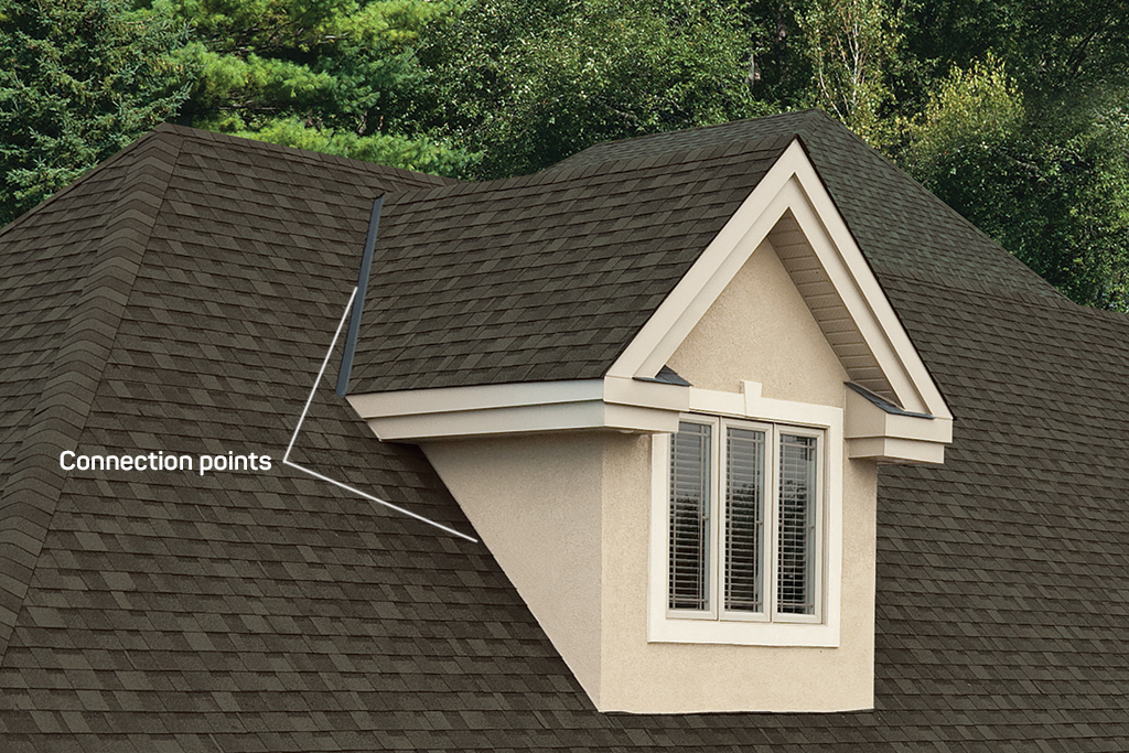dormer connection points to roof