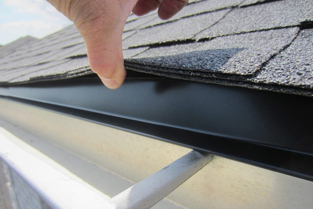 drip edge and shingles at an eave
