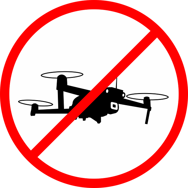 drone flying is not allowed - sign