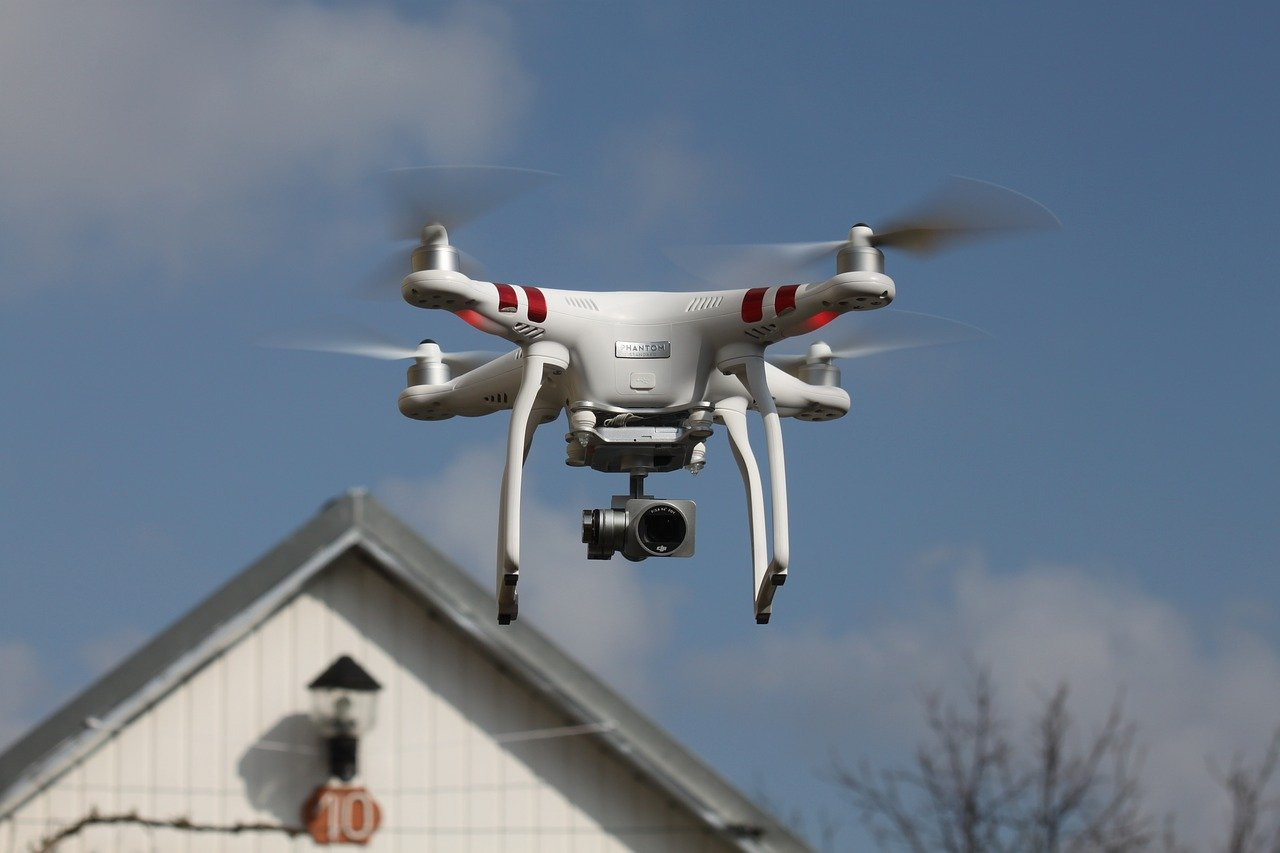 drone used for taking aerials shots of roofs
