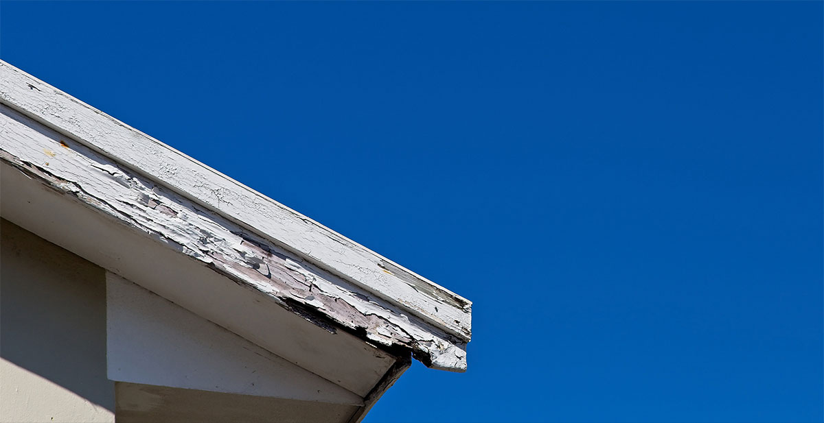 fascia board that requres replacement