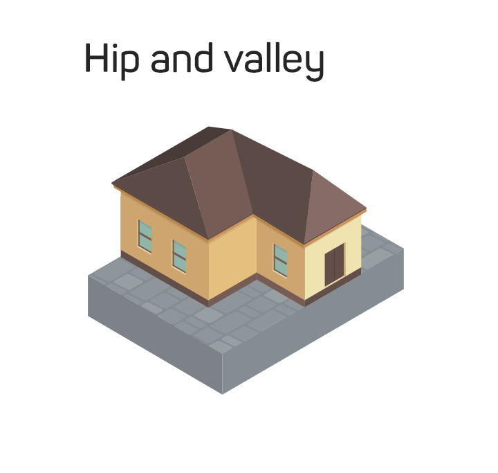 hip valley roof