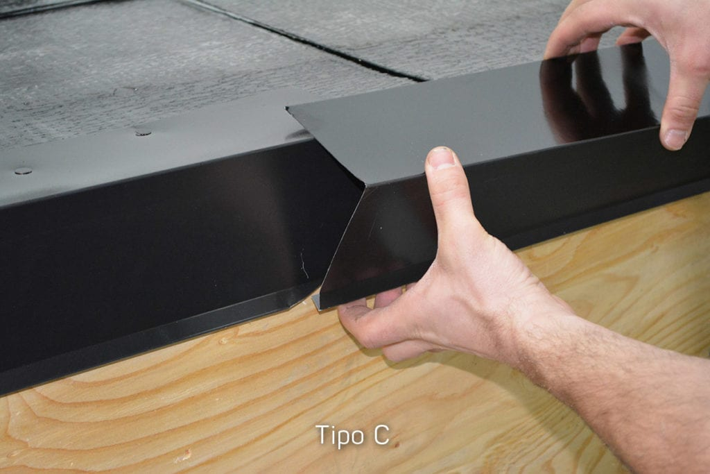 Placing drip edge on roof edge