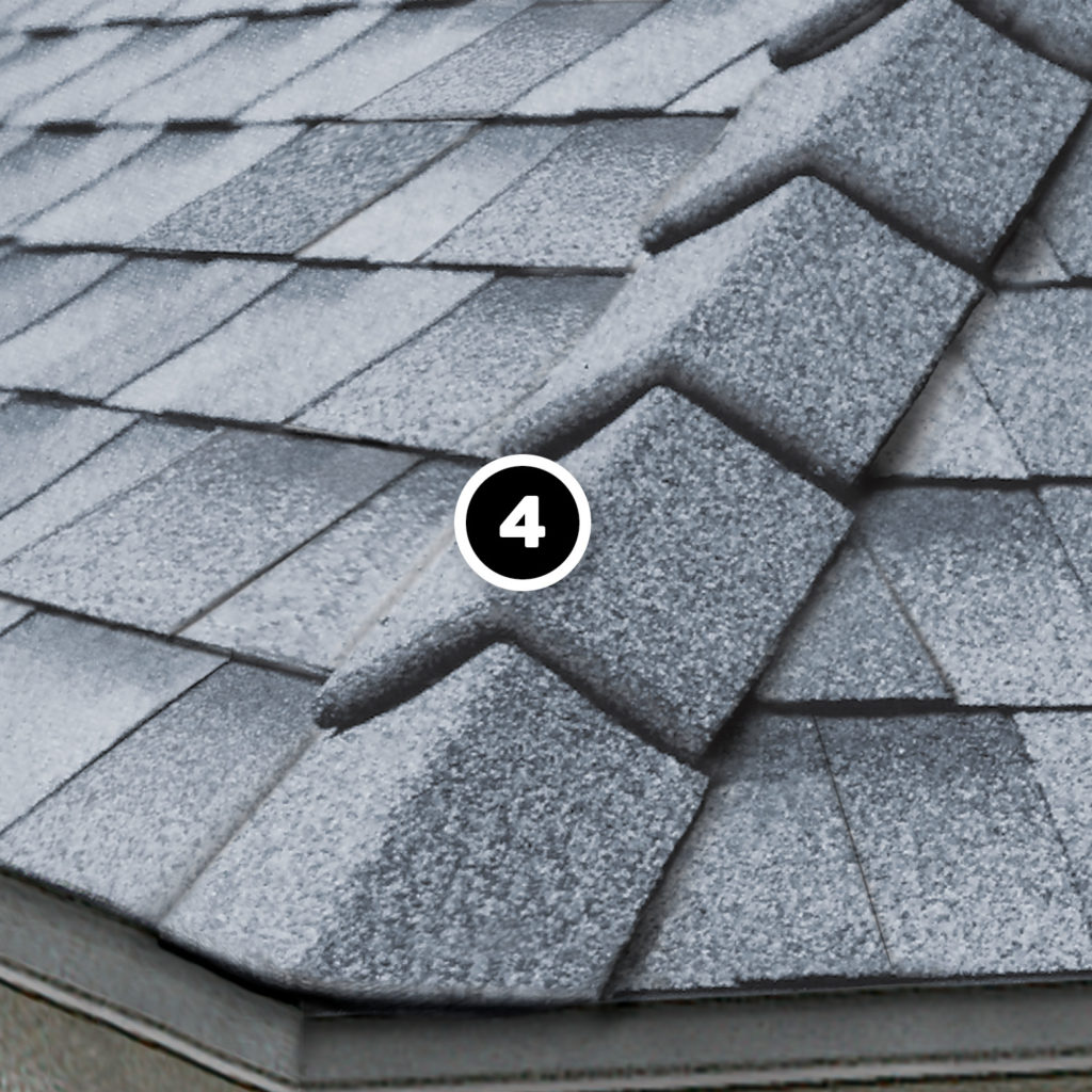 IKO Ultra HP capping shingles on a hip